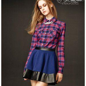 Xs Navy black circle skirt